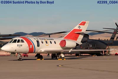 2004 - USCG HU-25A Falcon #2110 at the Aviation Nation Air Show military aviation air show stock photo #2399