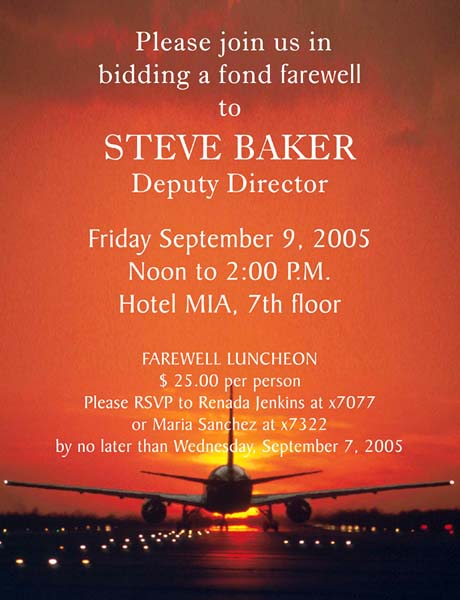 2005 - Miami-Dade Aviation Departments Farewell to Deputy Director Steve Baker