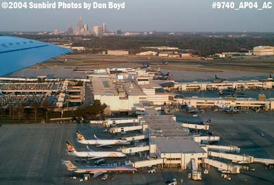 Charlotte Douglas International Airport with downtown Charlotte in the background aviation stock photo #9702