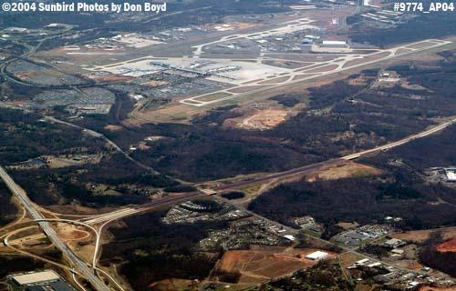 Charlotte Douglas International Airport aerial aviation stock photo #9774