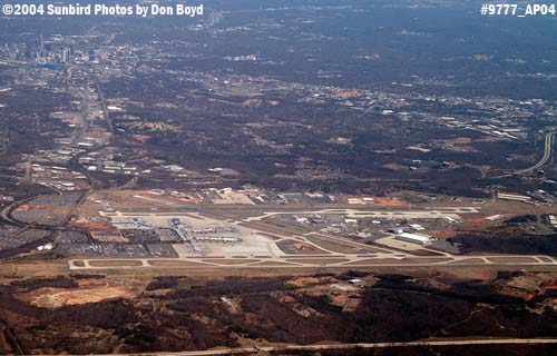 Charlotte Douglas International Airport aerial aviation stock photo #9777