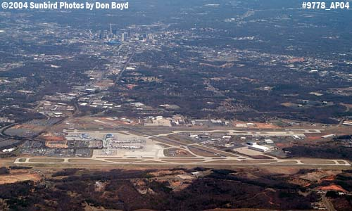 Charlotte Douglas International Airport aerial aviation stock photo #9778