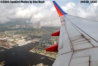 2005 - Turning basin at Port Everglades, FL aerial landscape stock photo #6548