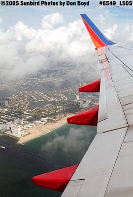 2005 - Port Everglades and Ft. Lauderdale beach aerial landscape stock photo #6549