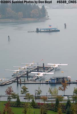 Float planes next to downtown Vancouver aviation stock photo #6569