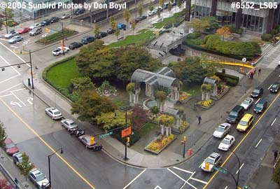 Park with parking underneath in downtown Vancouver, BC, stock photo #6570
