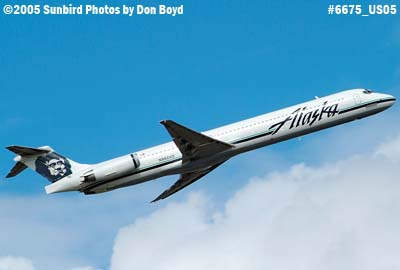 Alaska Airlines MD-83 N962AS aviation airline stock photo #6675