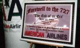 The last B727 revenue flight from Miami International Airport with my photo on the plaque