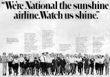 National Airlines Watch Us Shine ad campaign in the late 70's