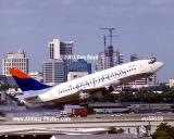 2001 - Delta Express B737-232(Adv) N307DL taking off at FLL aviation airline stock photo #US0118