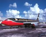 1979 - B707 in the BeeGees Tour paint scheme corporate aviation stock photo #CP7901