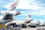 South Winds Cargo and Cielos cargo DC10's on the Western U ramp at MIA aviation cargo airline stock photo #6408