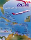 DCA route map poster on display at the Coconut Grove Art Show stock photo #8857