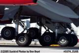 Closeup of Virgin Atlantic B747-41 G-VAST Ladybird landing airliner aviation airline stock photo #3374