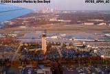 Charlotte Douglas International Airport with downtown Charlotte in the background aviation stock photo #9703