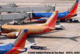 Southwest Airlines B737's N658SW, N740SW and N706SW aviation airline stock photo #6478