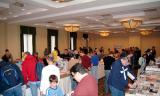 Vendors and customers in the large room at the 2005 Boston Airline Show, photo #7214