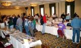 Vendors and customers in the large room at the 2005 Boston Airline Show, photo #7218