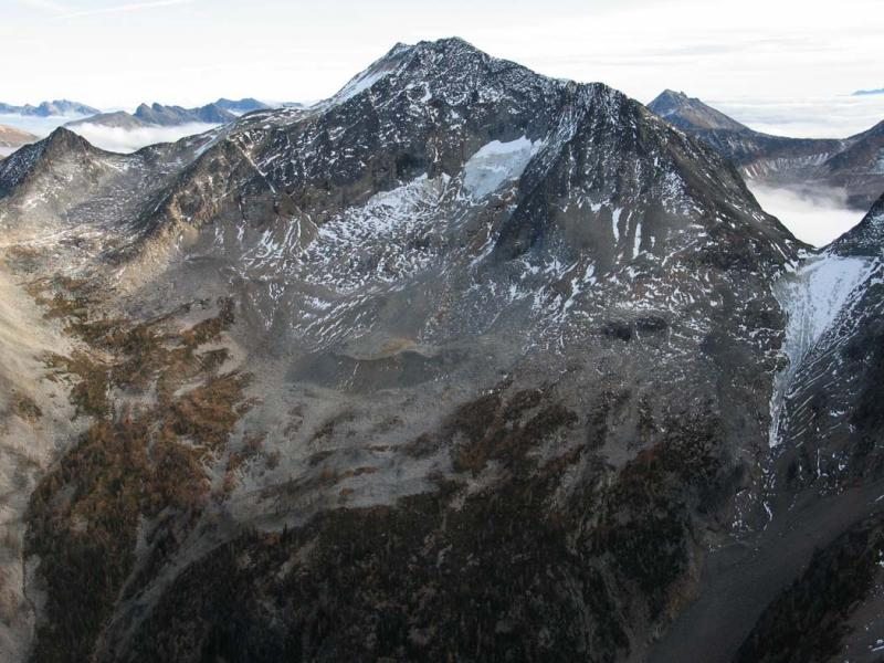 Lago, N Face Glacier Remnants (LagoCarruOsceola101805-41adj.jpg)