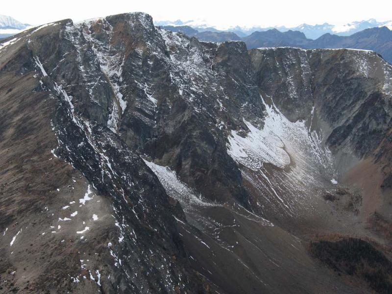 Glacier Remnant, Ptarmigan NE Face (PtarmiganPk101805-2adj.jpg)