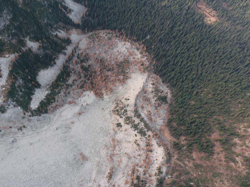 Hock Mt, Rock Glacier Terminus (TwispPass102105-06adj.jpg)