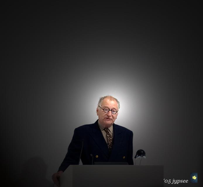 szarkowski at the podium