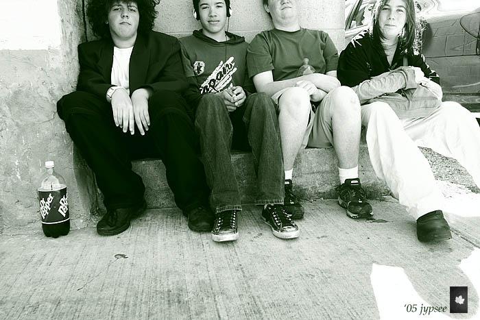 boys on the sidewalk
