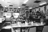 diner in black and white