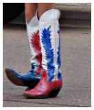 Up To Her Knees In Patriotism