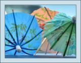 Tiny Paper Umbrellas On The Truck Dash