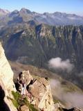 Vue sur le pic d'Herrana et le Lurien depuis le Cézy