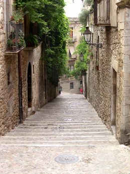 A street in el Call, the Jewish Quarter - Jewish community in Girona from 890 until Jews were expelled from Spain in 1492.