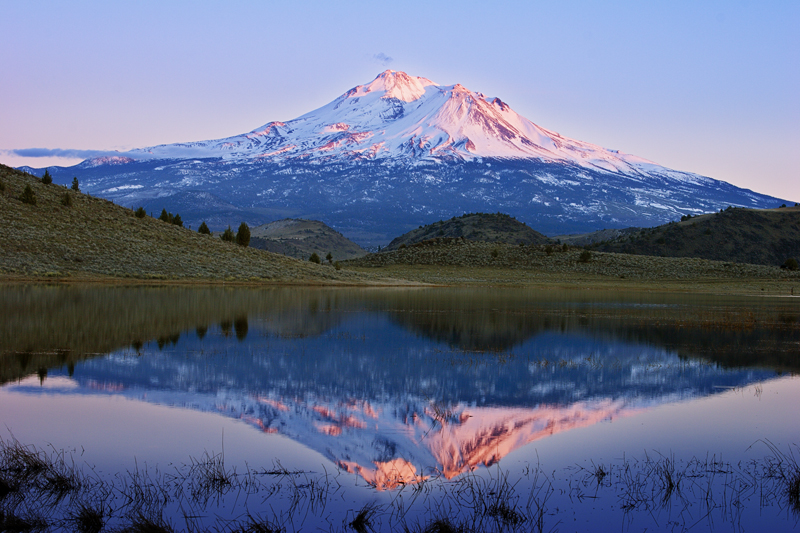 Shasta North Side Reflected