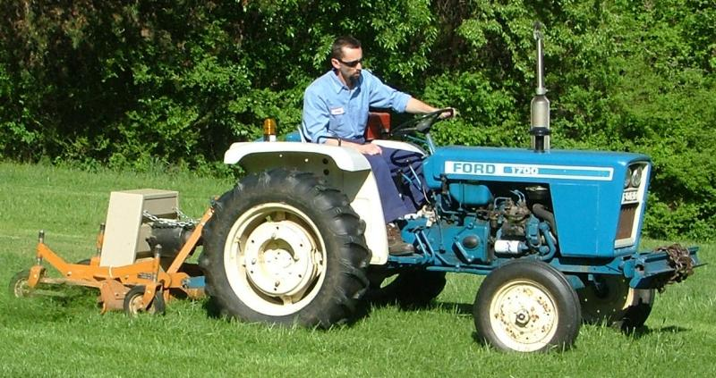 doug jr on my 1700 ford diesel tractor photo