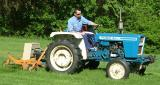 Doug Jr on my 1700 ford diesel tractor