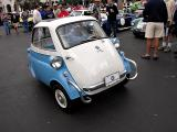 Isetta by BMW - 4 wheels actually. The 2 in the rear are only about 2' apart. Some British built Isettas were 3 wheeled.