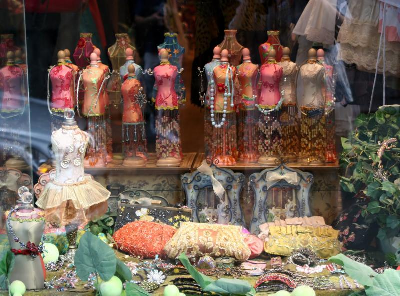 Womans Accessories Shop Window