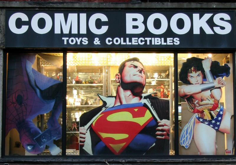 Comic Books - Store Window