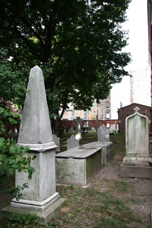 St Patricks Graveyard from Mott Street