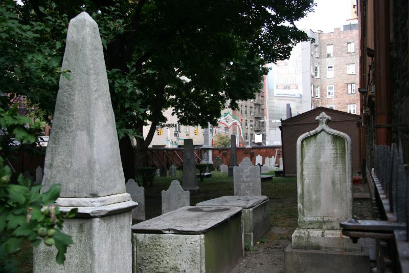 St Patricks Graveyard from Mott Street