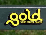 Gold Sign on Washington Square Park Bench