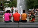 Colorful Tourists