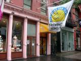 Swim Wear & Suntans on a Rainy Day above Prince Street