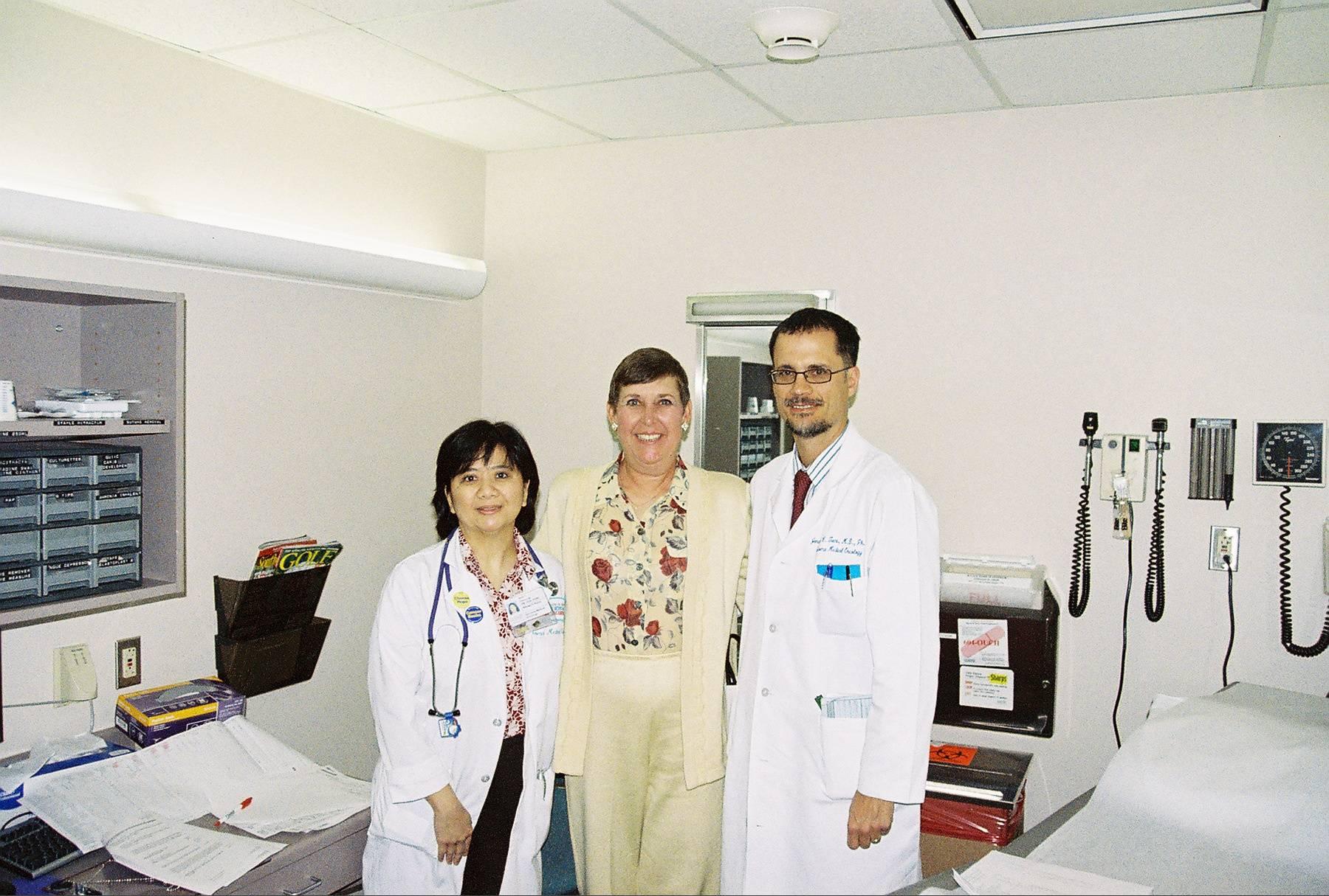 Dr.Trent, NurseBeth and Ginger at MDA