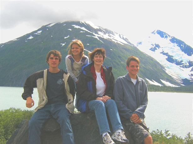 Carl, Miranda, Marina, Kevin in Alaska