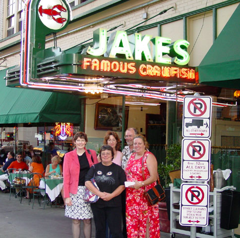 Marina, Yvonne, Susie, Kerry, and Rebbeca at Jakes in Portland