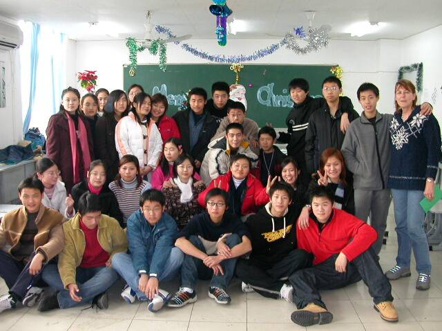 Kath D 12/25-03 far right- teaching in China