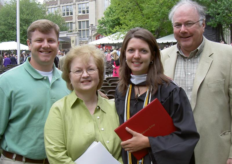 LeeAnn and family- Megan graduates college