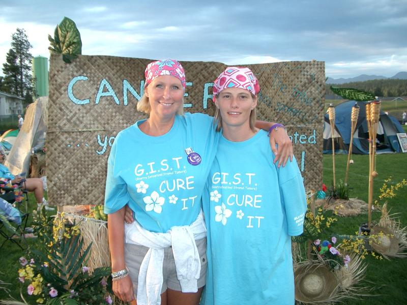 2005RelayforLife-Kim and friend Lisa- another cancer survivor