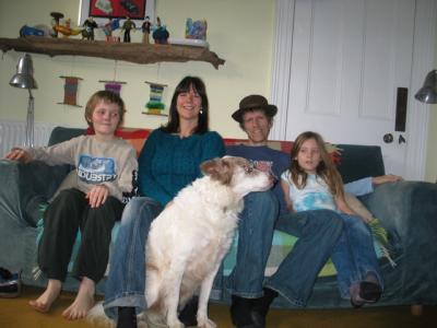 Peter, Wife Clare, Tilda and Chris- UK